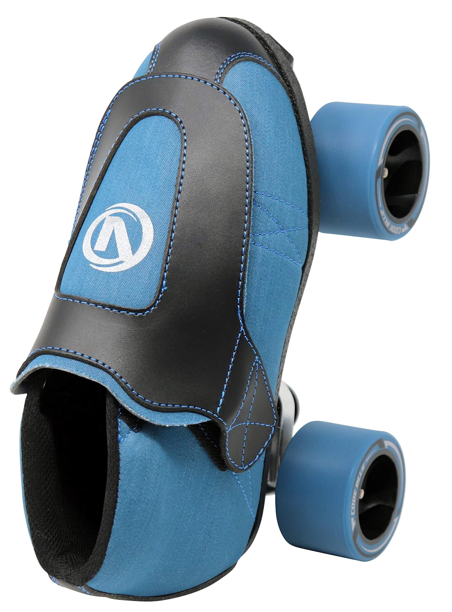 VNLA Code Blue Jam Skate - Mens & Womens Speed Skates - Quad Skates for Women & Men - Adjustable Roller Skate/Rollerskates - Outdoor & Indoor Adult Quad Skate - Kid/Kids Roller Skates (Size 3) by VNLA (Image #4)