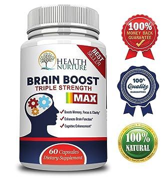 Amazon Com Health Nurture Brain Boost Maximum Strength Best Brain