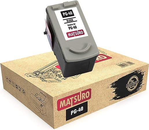 Matsuro Original Kompatibel Remanufactured Tintenpatrone Ersatz Für Canon Pg 40 1 Schwarz Bürobedarf Schreibwaren