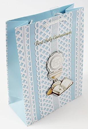 First 1st Sagrada Comunión bolsa de regalo 3d lujo Wrap Azul ...