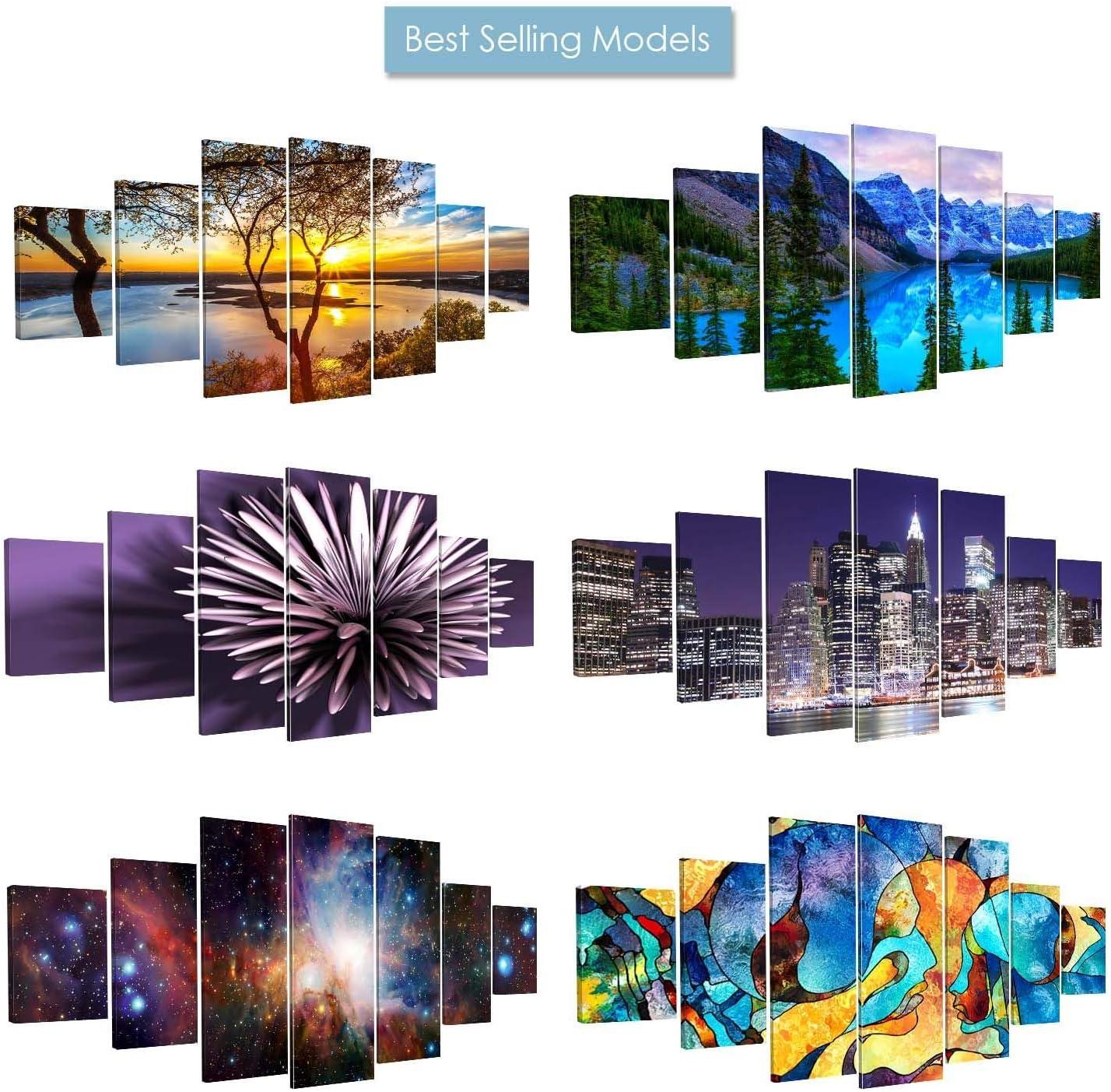 Startonight Grand Format Art Encadr/é Multicolore /Œil Impression De Photos sur Toile XXL Imprim/ée Tableau Motif Moderne D/éco dart 7 Pieces Tendu sur Chassis 100 x 240 cm