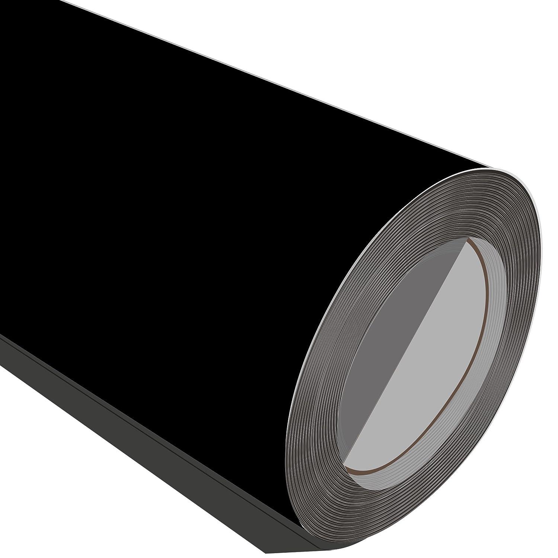 3 satinado, Metre (3 m), acabado satinado, 3 color negro, 500 mm de ancho Flex caliente hierro en la ropa la ropa vinilo ae22ca