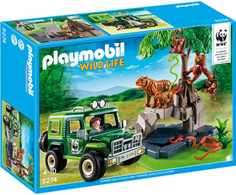 Playmobil® 5274 WWF Fuoristrada di tigri e oranghi