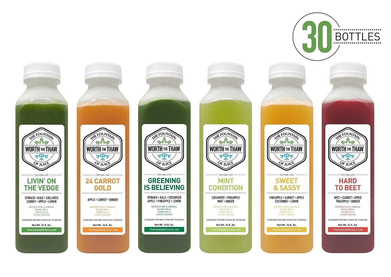 La Fuente De Jugo 100% Raw Juice Cleanse no-hpp prensado en ...