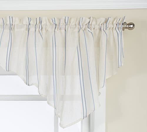 LORRAINE HOME FASHIONS Hastings Ascot Valance, 52 by 20-Inch, Blue