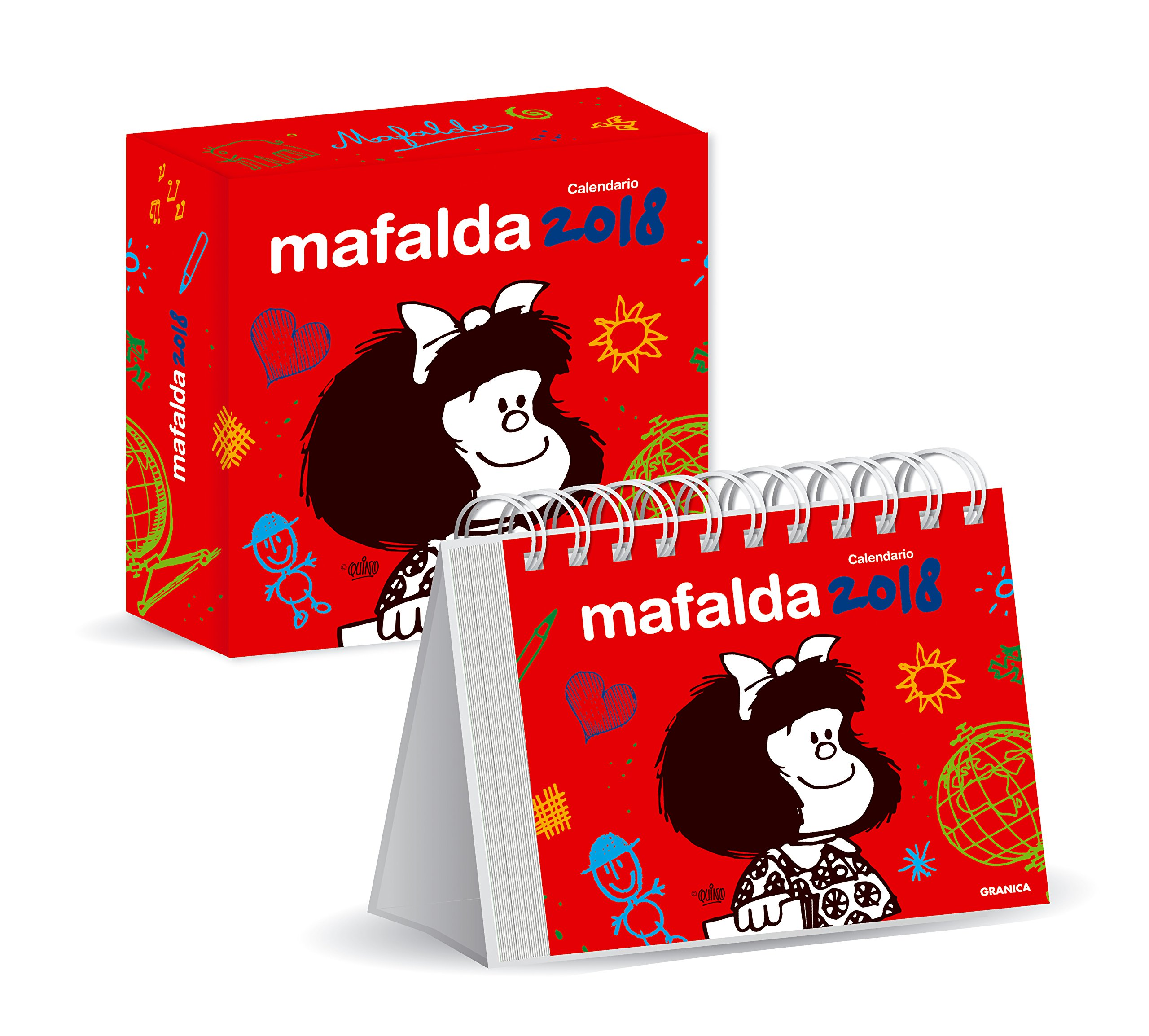 Mafalda 2018 Calendario de escritorio con caja - Rojo (Spanish Edition): Quino: 7798071445112: Amazon.com: Books