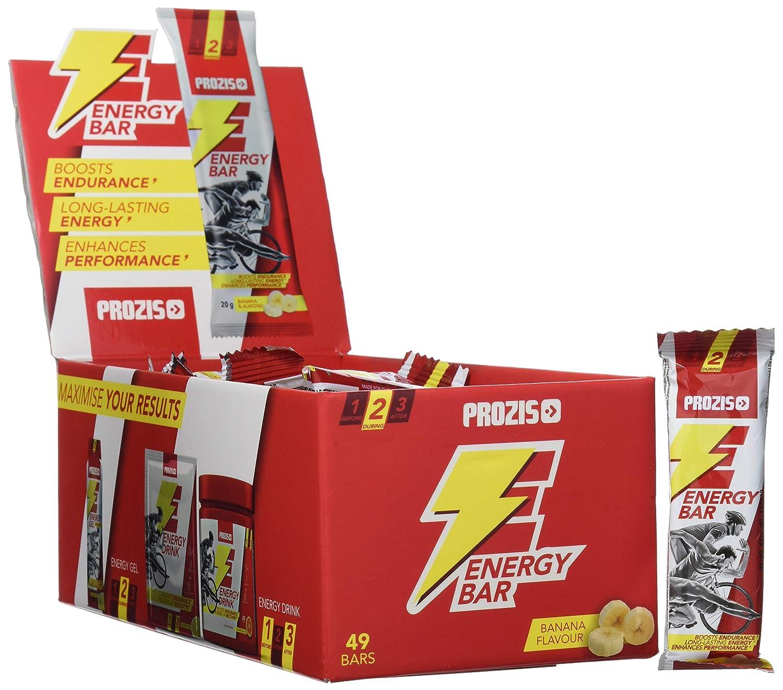 Prozis Energy Bar, Sabor Banana - 49 Unidades: Amazon.es: Salud y cuidado personal