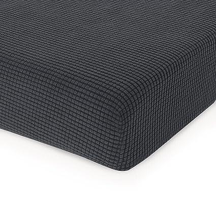 Chun Yi Seat Cushion Covers Polyester Spandex Fabric Stretch Cushion Slipcovers Chair Grey