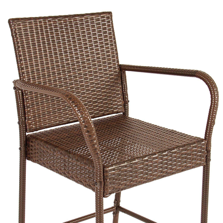 Amazon.com: Victoria Young Full Seat Barstool, Set of 2 Patio ...