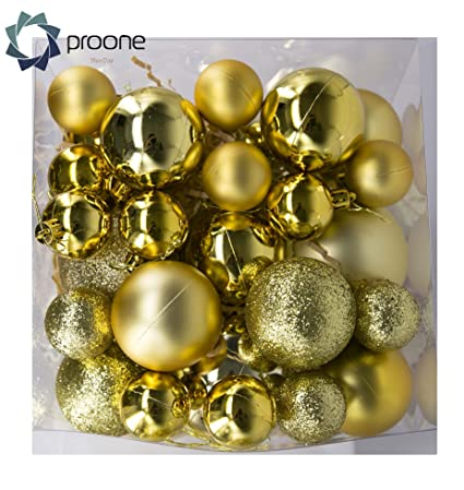 proone christmas ball ornaments shatterproof christmas decorations tree balls small for holiday wedding party decoration