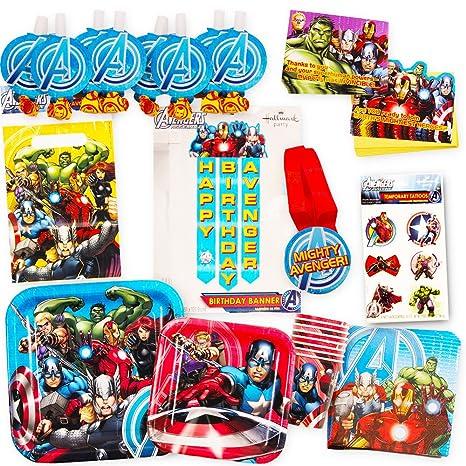 Marvel Avengers Party Supplies Ultimate Set (85 Pieces) -- Party Favors Birthday  sc 1 st  Amazon.com & Amazon.com: Marvel Avengers Party Supplies Ultimate Set (85 Pieces ...
