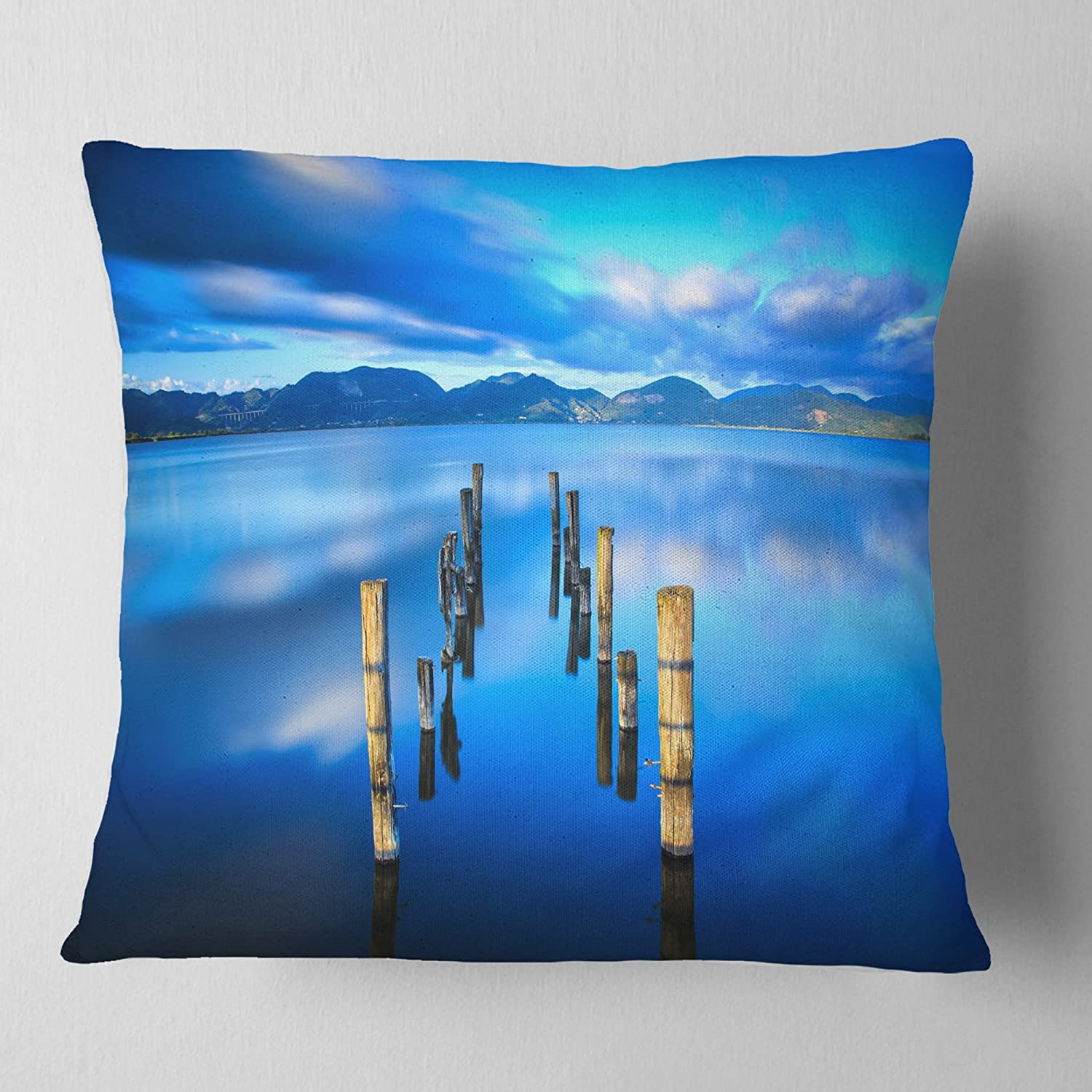 ArtVerse Katelyn Smith 20 x 20 Poly Twill Double Sided Print with Concealed Zipper /& Insert Virginia Love Watercolor Pillow