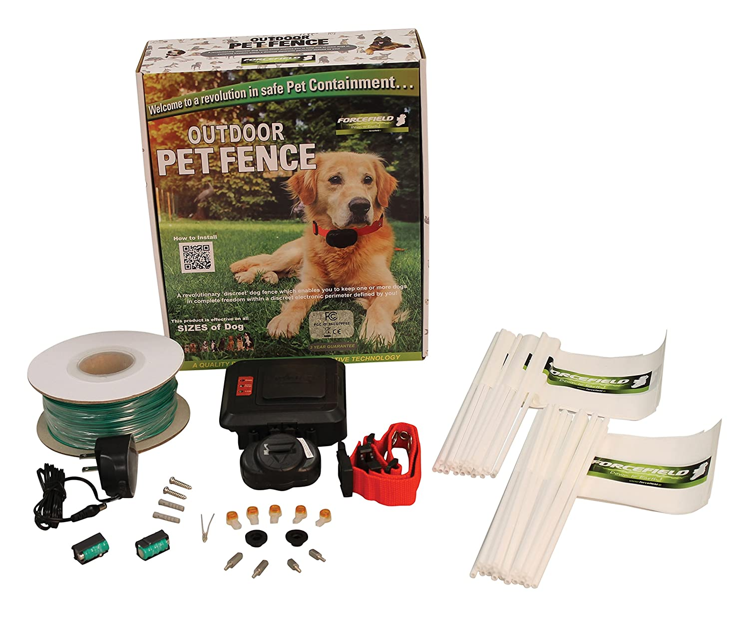 Ideal Pet Products Forcefield Outdoor Pet Fence, Pet Containment System for Dogs