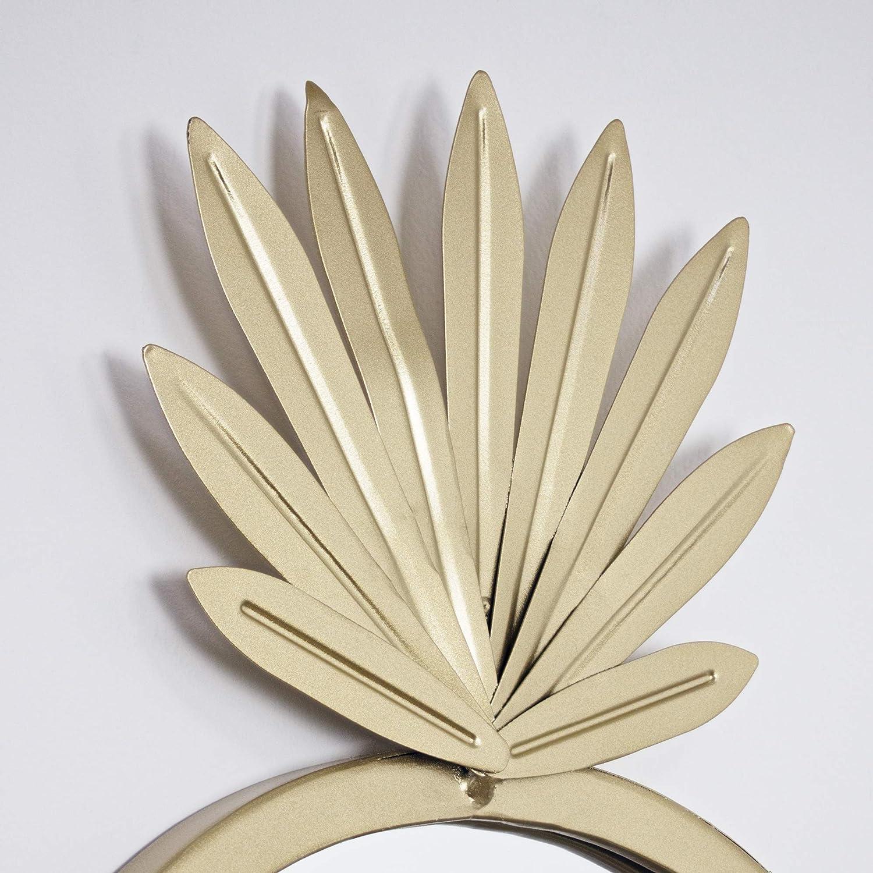 American Art Decor Metal Pineapple Wall Vanity Accent Mirror – Gold 18 H x 11 L