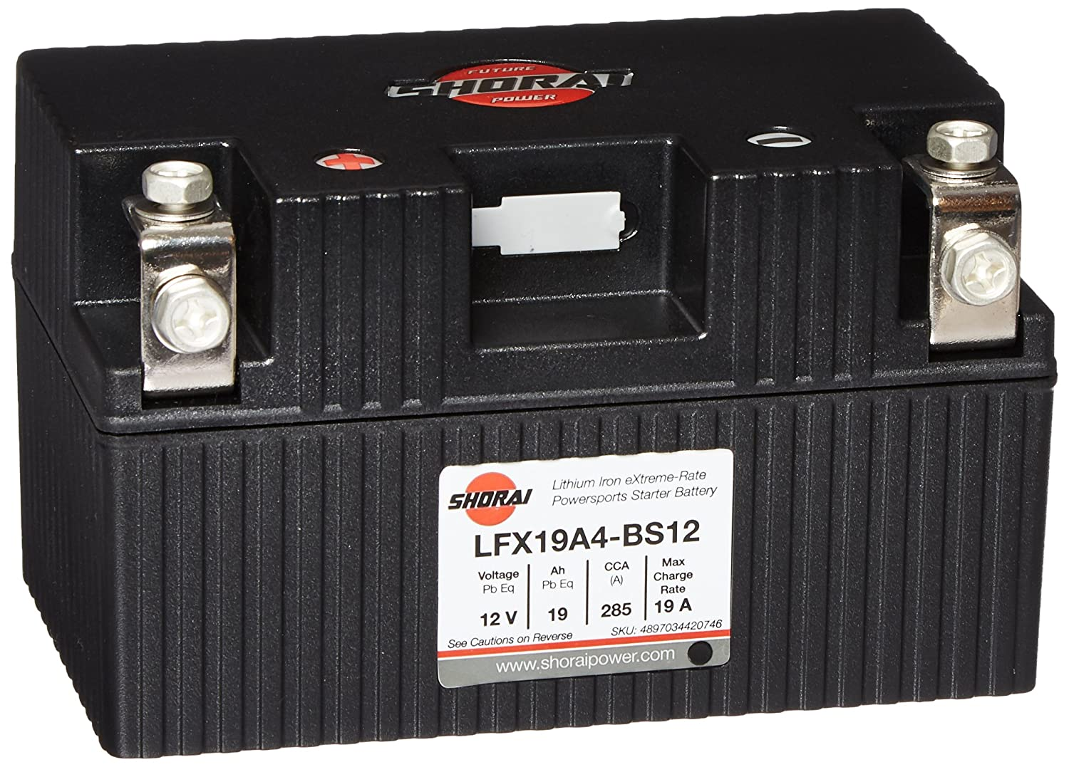 Shorai Lithium-Iron Extreme-Rate Battery LFX19A4-BS12