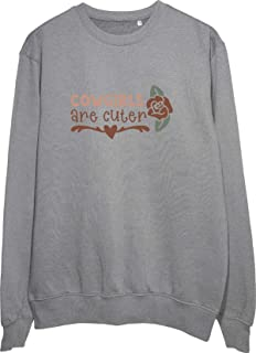 Pop Art: Cowgirls Are Cuter Grey/White/Black Sweatshirt