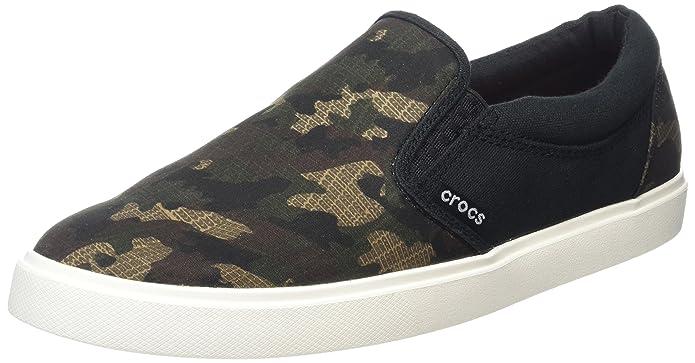 Amazon.com | Crocs Mens Citilane Graphic Slip-On Sneaker | Loafers & Slip-Ons