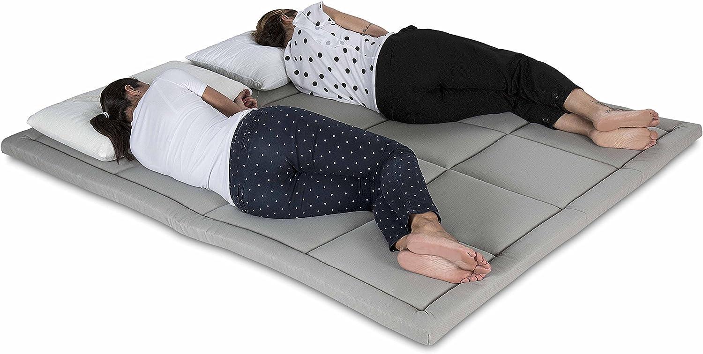 Grigio 90X190 futon Trapuntato salvaspazio materassi da Terra 90X190 Alto 5 Centimetri Materasso Letto futon Matrimoniale e Singolo Pieghevole e Arrotolabile Bed Ground