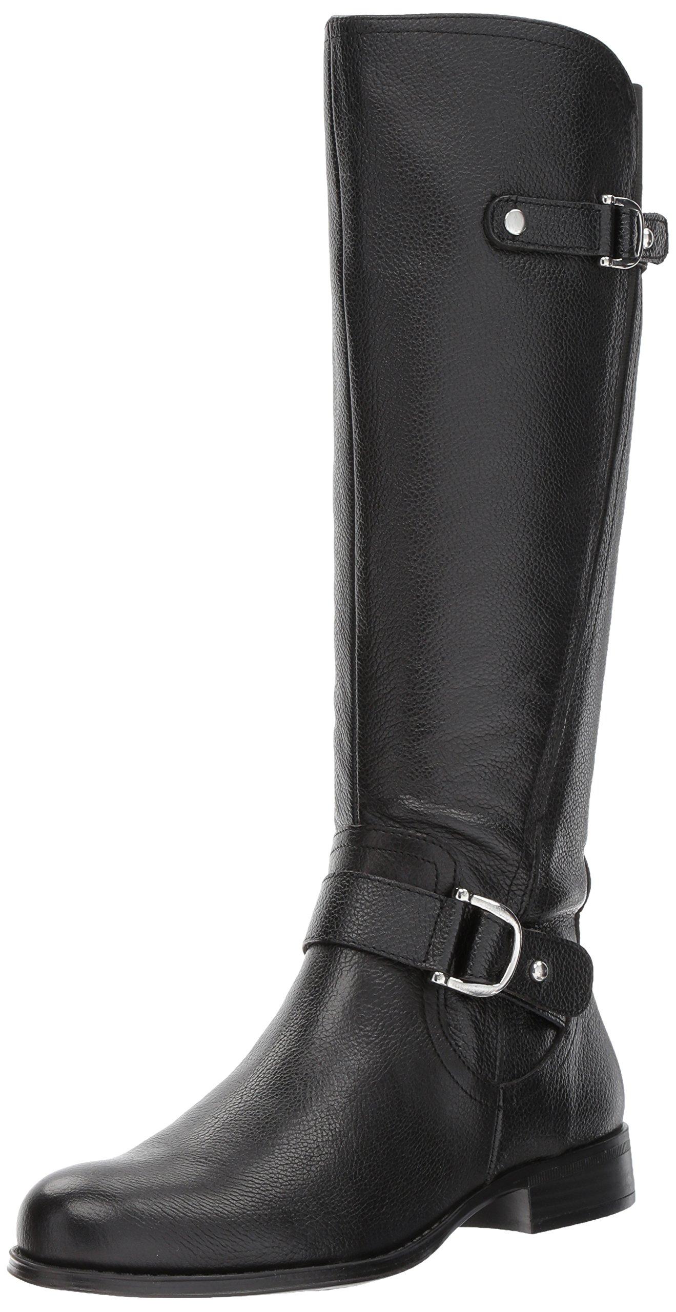 Naturalizer Women's Jenelle Riding Boot, Black, 9.5 W US