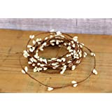Ivory Vanilla Pip Berry Single Ply Garland 18' Country Primitive Floral Décor