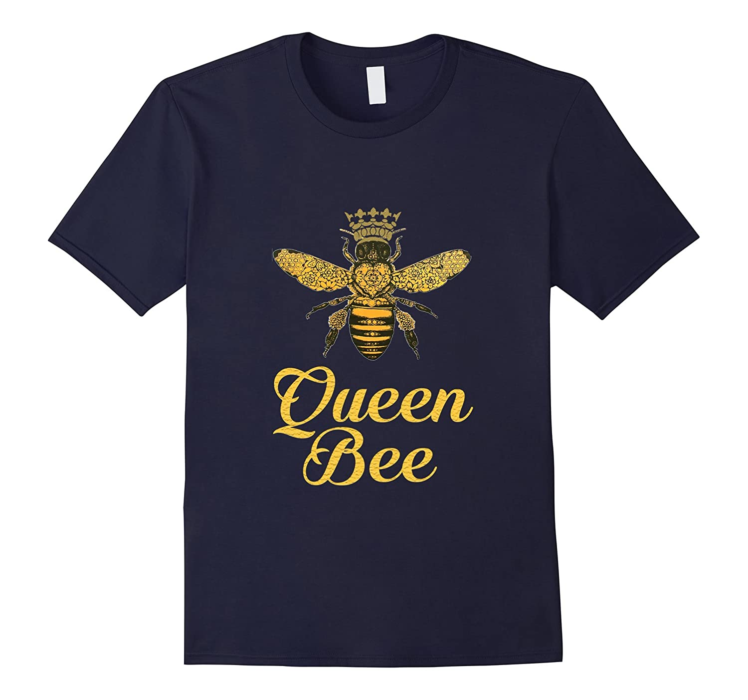 Queen Bee Crown T shirt Tee - Perfect for Bee Lovers!-FL