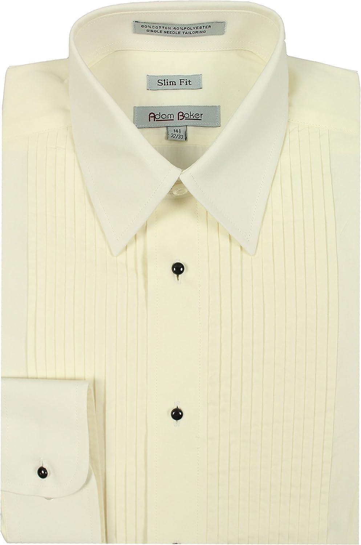 Colors Adam Baker Mens Slim Fit Convertible Cuff Laydown Collar Formal Tuxedo Shirt