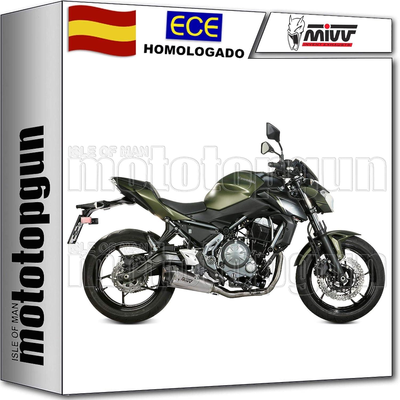 MIVV TUBO DE ESCAPE COMPLETO HOMKAT DELTA RACE CC Z 650 Z650 ...
