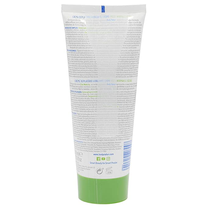 Body natur crema depilatoria hidratante cuerpo te matcha 200ml.: Amazon.es: Belleza