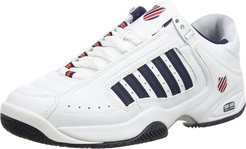 10 UK 44.5 EU Wei/ß White//Dressblue//Fieryred 164 K-Swiss Performance Defier Rs Herren Tennisschuhe