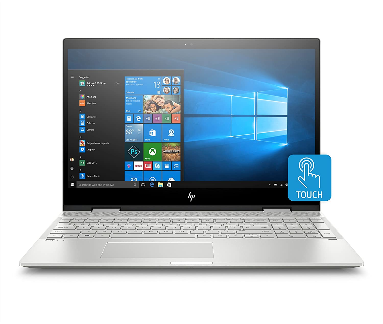 "HP - ENVY x360 2-in-1 15.6"" Touch-Screen Laptop - Intel Core i7 - 12GB Memory - 256GB Solid State Drive - HP Finish In Natural Silver"