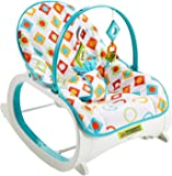 TOY-STATION Infant To Toddler Rocker (White)