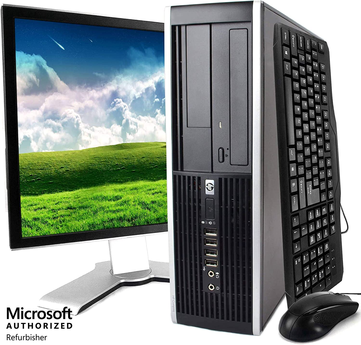 "HP Elite Desktop, Intel Core 2 Duo Processor, 8 GB RAM, 500 GB Hard Drive, DVD-ROM, Wi-Fi, Windows 10 Home, 19"" LCD Monitor (Renewed)"
