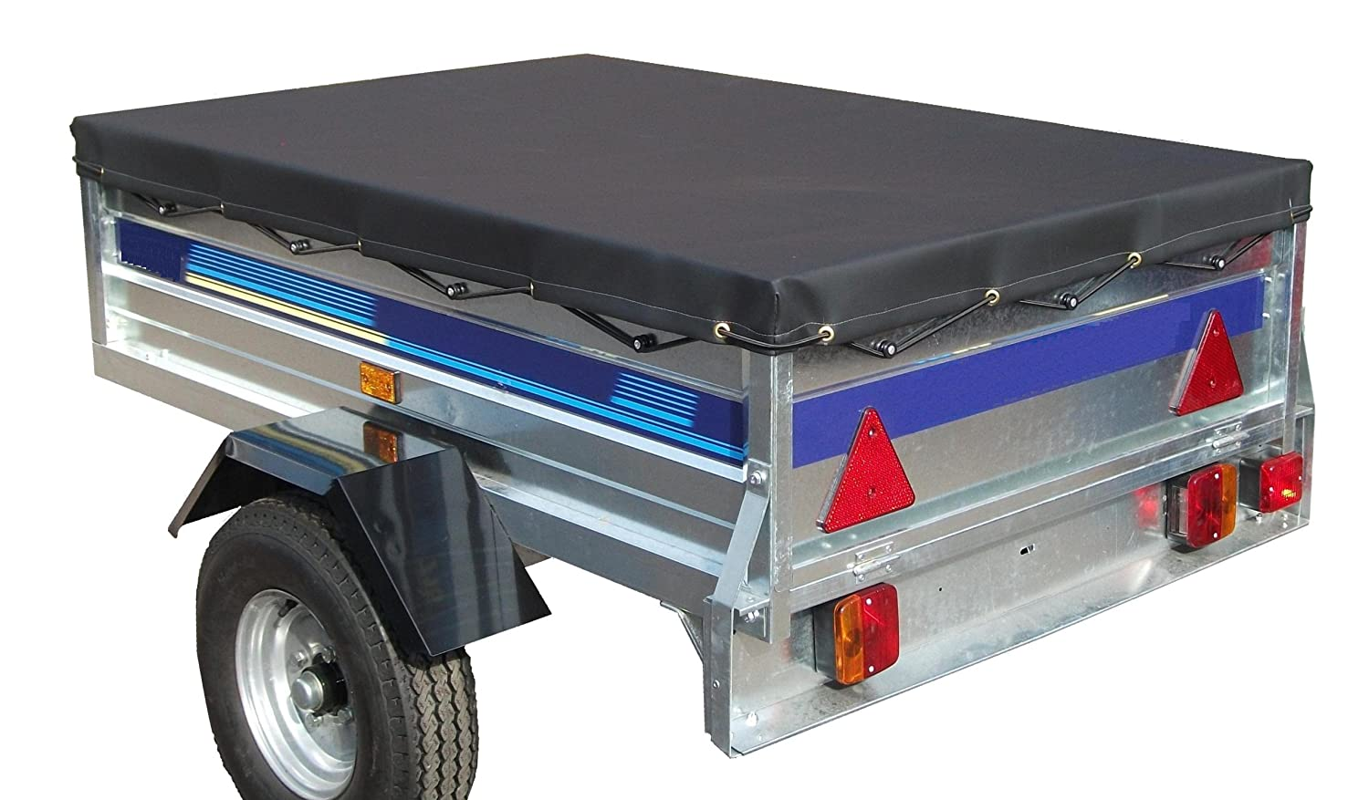 7' x 4' High quality Heavy duty 7ft x 4ft trailer cover Pt No. LMX1165. Please ensure the cover is the correct size before orderingWe suggest you measure the trailer before ordering.. Leisure Mart