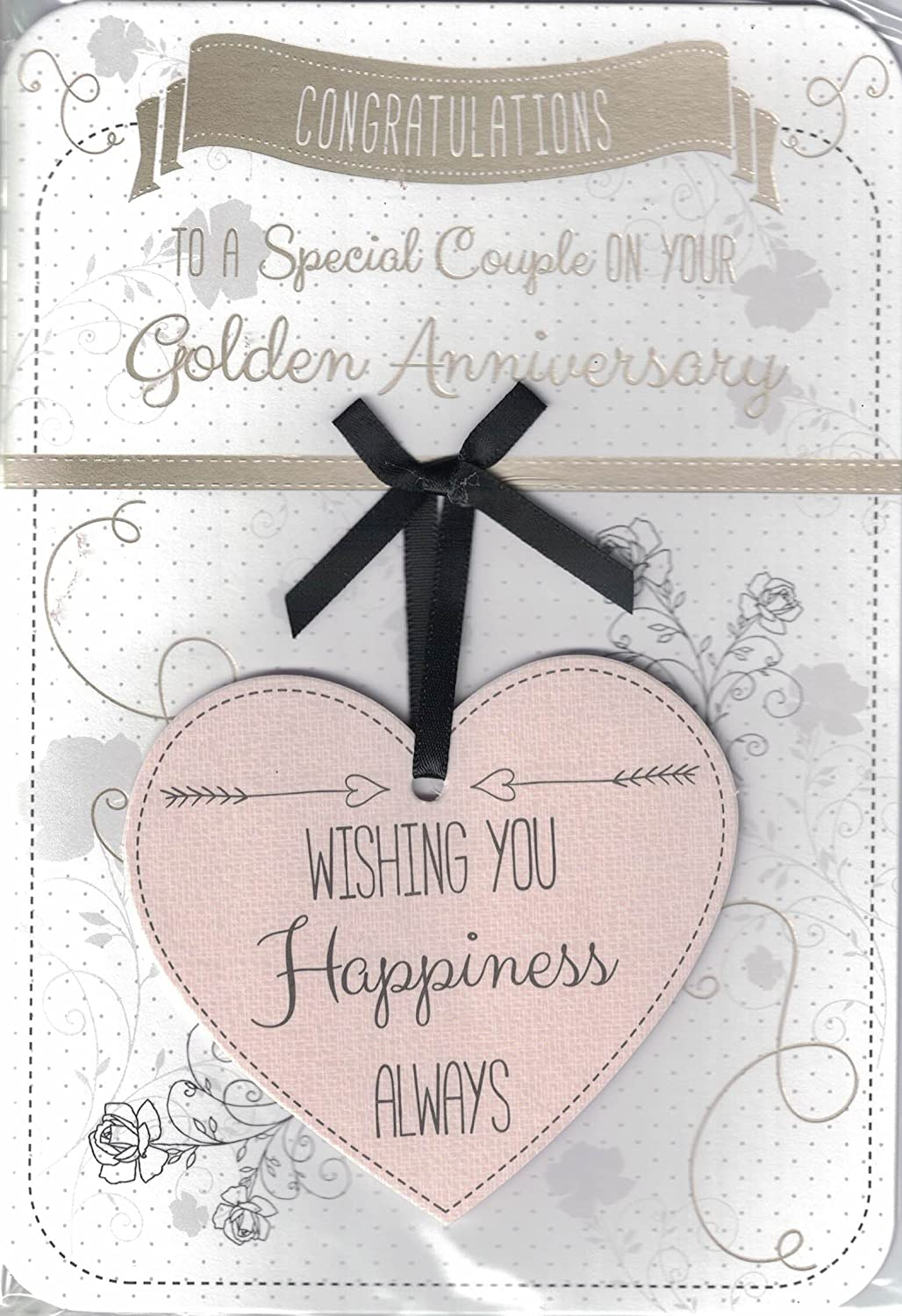 """Champagne Glasses /& Hearts  /""""ON YOUR SILVER  ANNIVERSARY/"""" Card"""