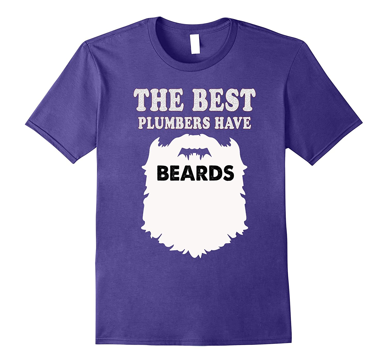 Bearded plumber Tshirt funny gift man him beards tees-TJ