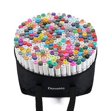 Amazon.com: Donxote 168 rotuladores de punta doble ...