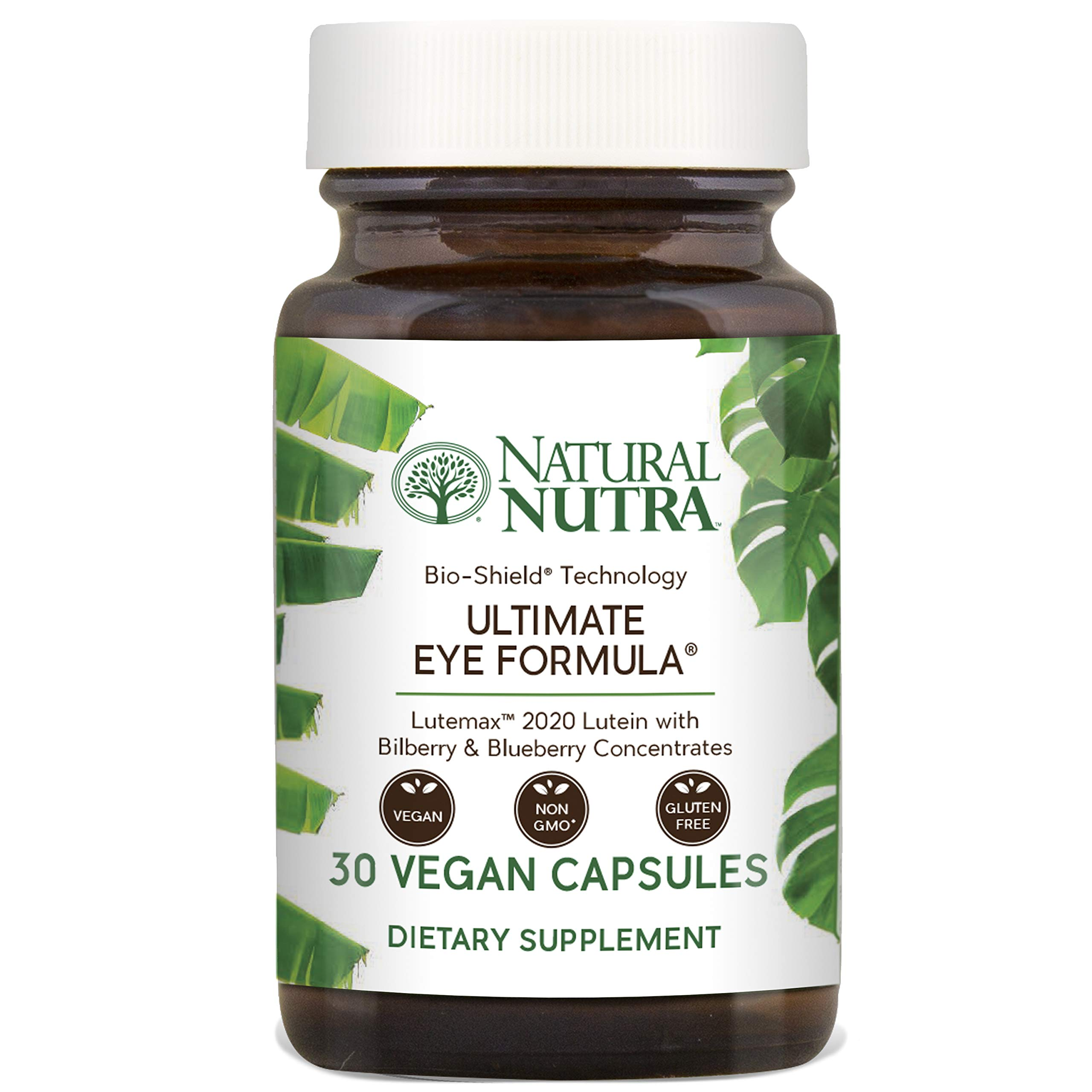 Natural Nutra Ultimate Eye Formula with Lutein, Blueberry and Bilberry Extract, Macular Degeneration and Night Vision Supplement, 30 Capsules