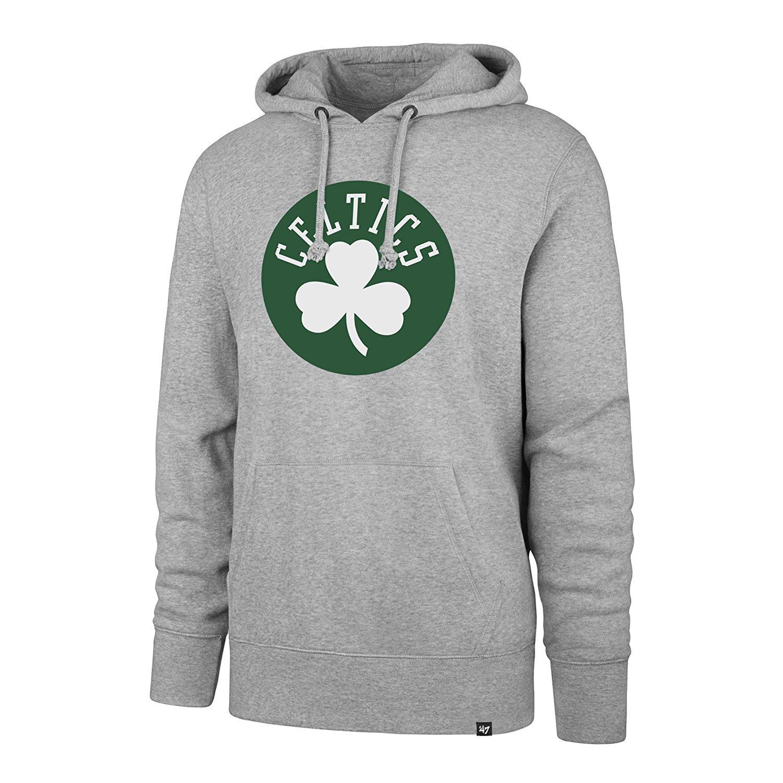 Boston Celticsメンズチームロゴプルオーバーパーカースウェット – グレー B07BBVGXQC  X-Large