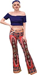 37c82c3af68126 AZZAVERA Oriente High Waist Flare Pants Bell Bottoms Wide Leg Long Palazzo  Yoga Harem Pants,