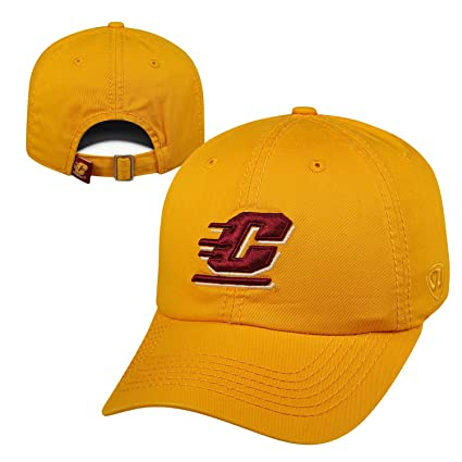 best loved 41195 0309c Top of the World NCAA Central Michigan Chippewas Relaxed Fit Adjustable Hat,  Gold, Adjustable