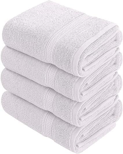 Toallas de mano grandes de algodón (blanco, paquete de 4, 41 x 71