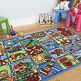 Tappeto colorato per bambini, lettere e immagini 133x200cm