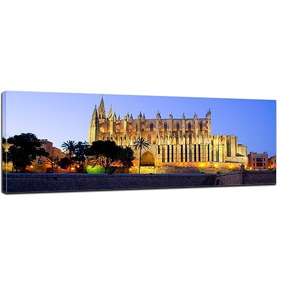 Bilderdepot24 Cuadros en Lienzo Panorama Catedral de Palma ...
