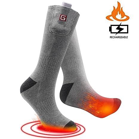 svpro batería eléctrica climatizada calcetines recargable con cómodo thermo-socks, clima frío térmico calcetines