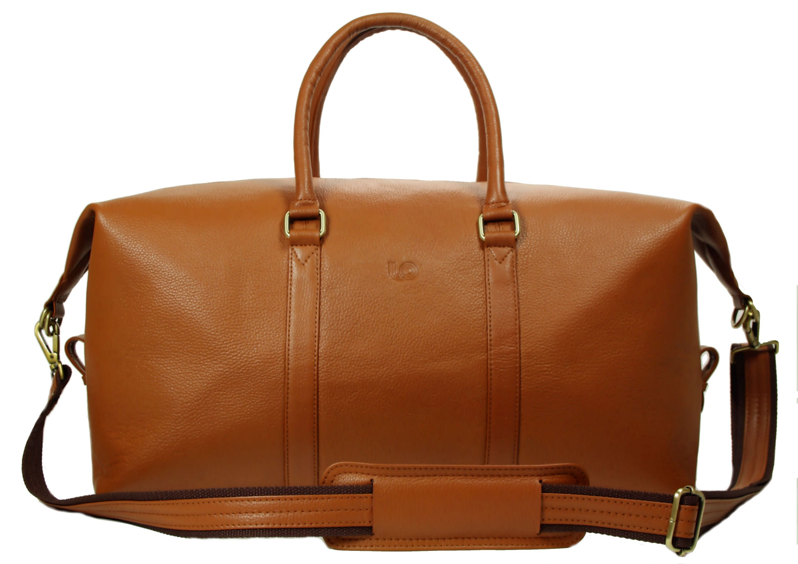 LeftOver Studio Expandable Weekend Overnight Travel Duffel Bag in Tan Top Grain Cow Leather by Leftover Studio (Image #2)