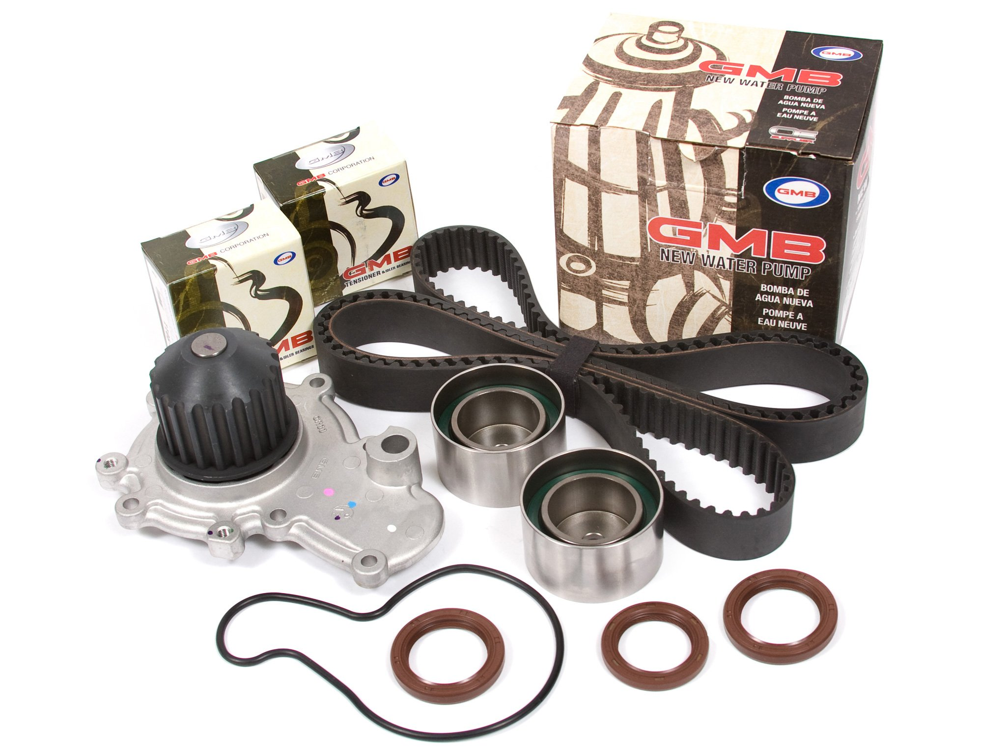 Evergreen TBK246WP Compatible With 95-99 Chysler Dodge Eagle Mitsubishi Plymouth 2.0 DOHC 420A Timing Belt Kit GMB Water Pump