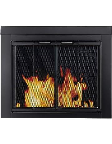 glass fireplace screens white shop amazoncom fireplace screens