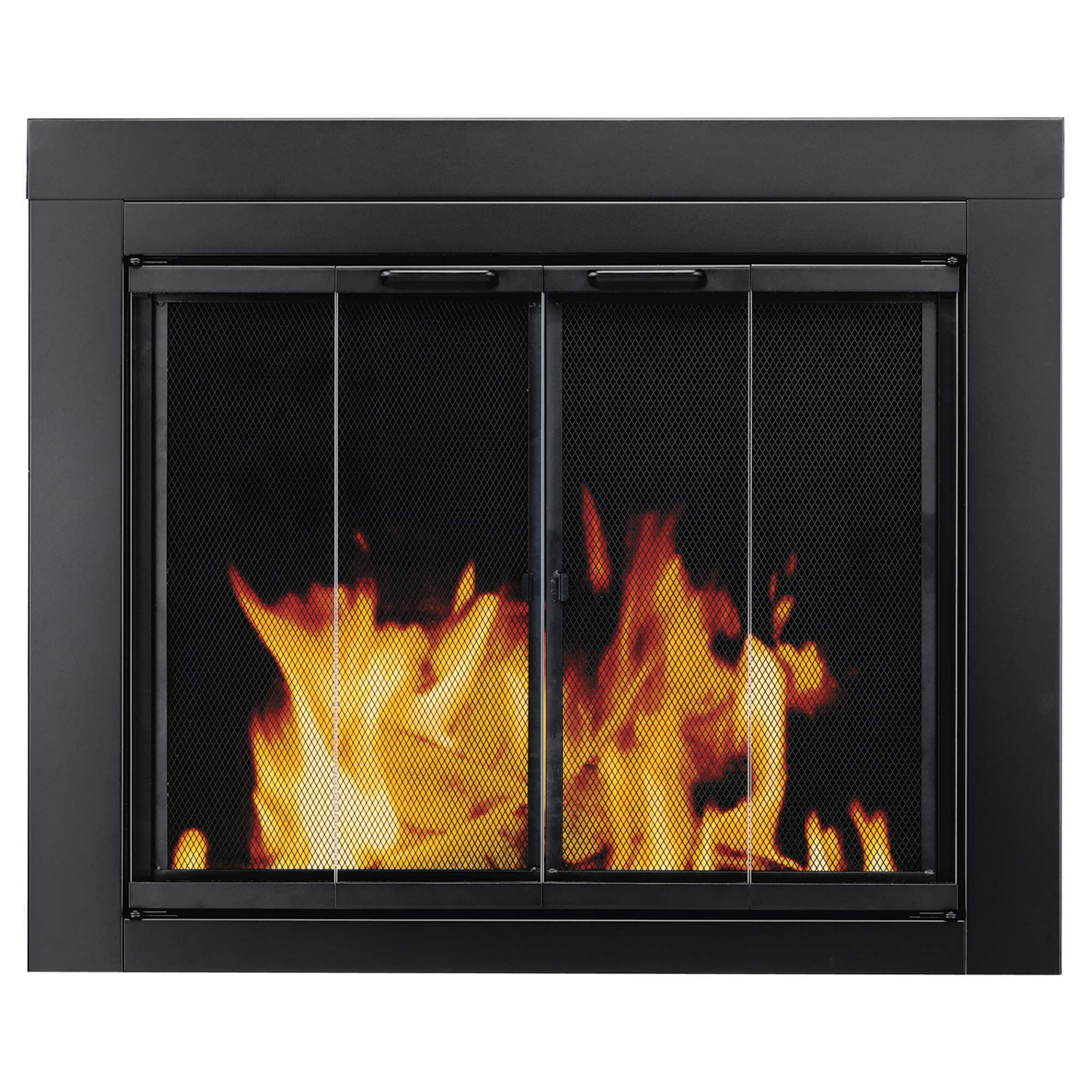 Pleasant Hearth AT-1001 Ascot Fireplace Glass Door, Black, Medium by Pleasant Hearth