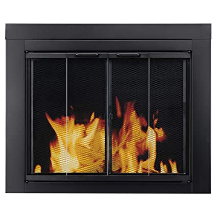 Awesome Pleasant Hearth At 1001 Ascot Fireplace Glass Door Black Medium Interior Design Ideas Gentotryabchikinfo