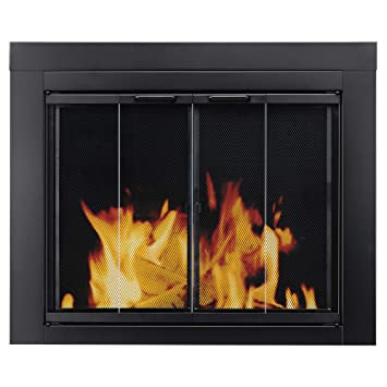 Amazon Pleasant Hearth At 1001 Ascot Fireplace Glass Door